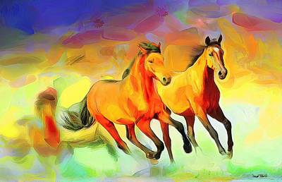 Painting - Horsing Around by Wayne Pascall