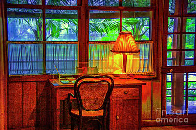 Photograph - Ho's Desk by Rick Bragan