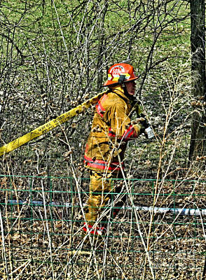 Fireground Photograph - Hose Advance by Tommy Anderson