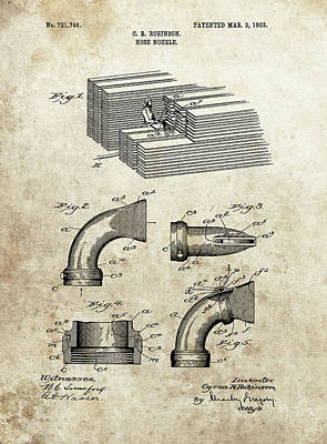 Drawing - Hose Nozzle Patent by Dan Sproul