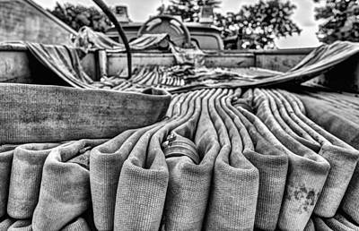 Hoses Black And White Print by JC Findley
