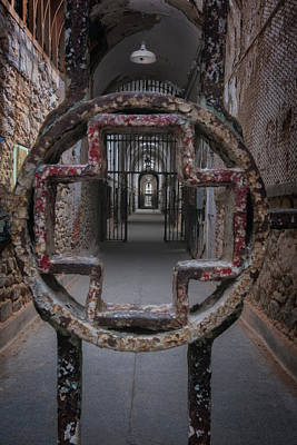 Photograph - Hospital Cellblock Gate by Tom Singleton