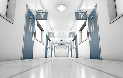 Hospital Hallway Art Print by Allan Swart