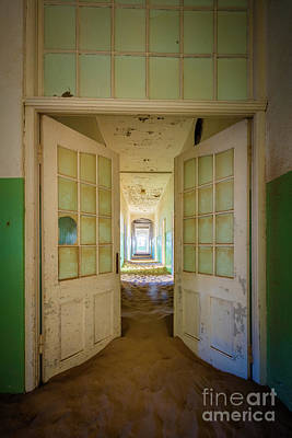 Mining Photograph - Hospital Hallway by Inge Johnsson