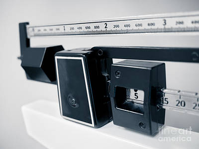 Hospital Medical Sliding Weight Beam Scale Art Print by Paul Velgos