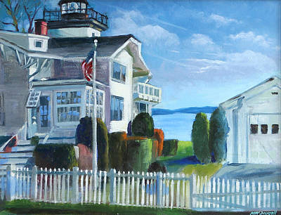 Painting - Hospital Point Light  by Michael McDougall