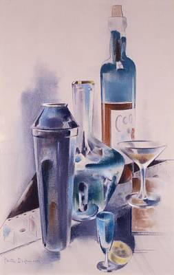 Decanters Painting - Hospitality by Preston Dickinson