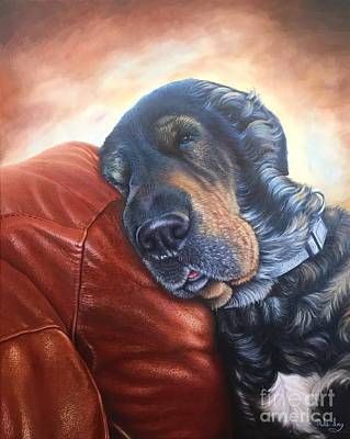 Art Print featuring the painting Hoss by Mike Ivey