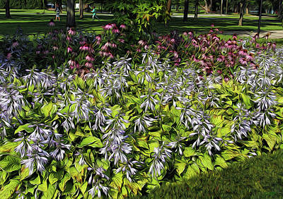 Digital Art - Hosta's In Bloom by David Pantuso