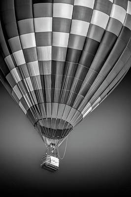 Photograph - Hot Air Balloon And Bucket In Black And White by Randall Nyhof