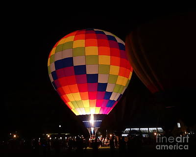 Photograph - Hot Air Balloon Bright Burn by Justin Moore