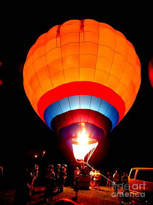 Photograph - Hot Air Balloon Burn by Justin Moore