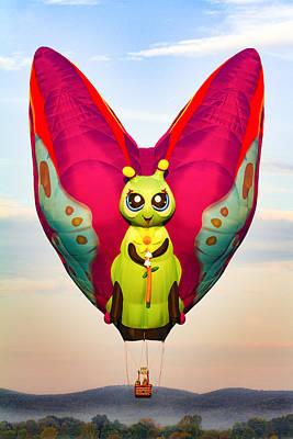 Balloon Photograph - Hot Air Balloon Butterfly by Brian Caldwell