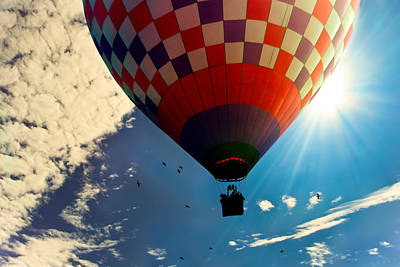 Hot Air Balloon Eclipsing The Sun Art Print by Bob Orsillo