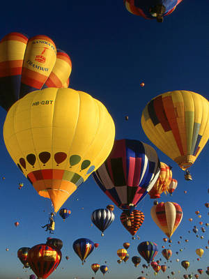 Photograph - Hot Air Balloon Festival - Mass Ascension by Art America Gallery Peter Potter