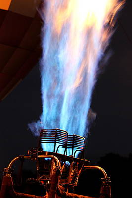 Photograph - Hot Air Balloon Flame by Beth Vincent
