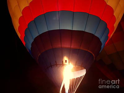 Photograph - Hot Air Balloon Flame by Justin Moore