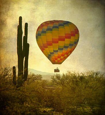 Hot Air Balloon Flight Over The Southwest Desert Art Print by James BO  Insogna