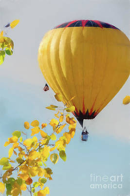 Photograph - Hot Air Balloon Flying by Dan Friend