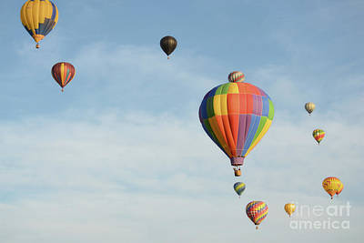 Photograph - Hot Air Balloon Friends by Andrea Hazel Ihlefeld