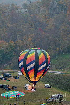 Photograph - Hot Air Balloon Getting Ready For Lift Off by Dan Friend