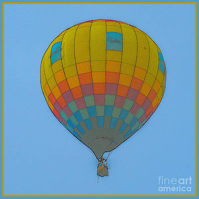 Photograph - Hot Air Balloon In Sketch by Grace Grogan
