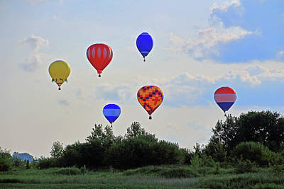 Photograph - Hot Air Balloon Launch by Angela Murdock