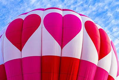 Hot Air Balloon Love Art Print