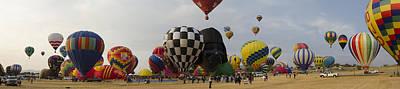Hot Air Balloon Races Art Print by Rick Mosher