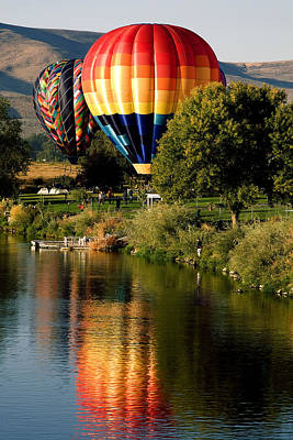 Hot Air Balloon Rally Art Print by David Patterson