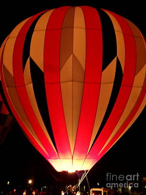 Photograph - Hot Air Balloon Red by Justin Moore