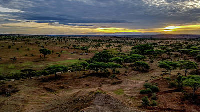Photograph - Hot Air Balloon Ride Over The Serengeti At Dawn by Marilyn Burton