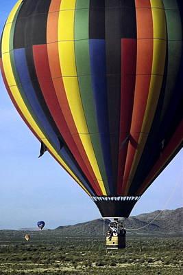 Hot Air Balloon  Art Print by Sally Weigand