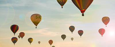 Hot Air Balloon Photograph - Hot Air Balloon Sunrise  by Brian Caldwell