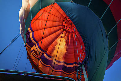 Photograph - Hot Air Balloon With Blowing Flame by Judith Barath