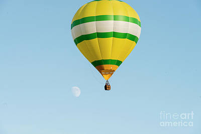 Photograph - Hot Air Balloon With Moon by Dan Friend