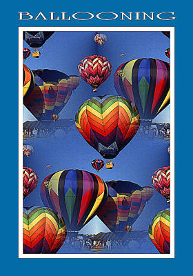 Mixed Media - Hot Air Ballooning Poster by Art America Gallery Peter Potter