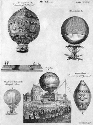 Photograph - Hot-air Balloons, 1783-84 by Granger