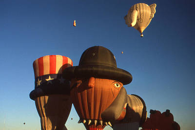 Photograph - Albuquerque Hot Air Balloon Festival - Special Shapes by Art America Gallery Peter Potter
