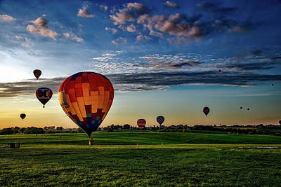Photograph - Hot Air Balloons At Sunrise by Mountain Dreams
