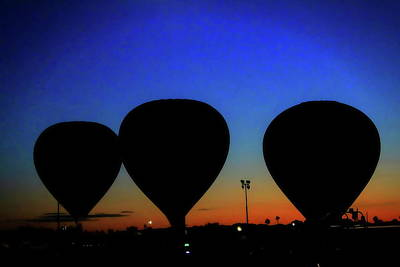 Digital Art - Hot Air Balloons At Sunset by Dan Stone