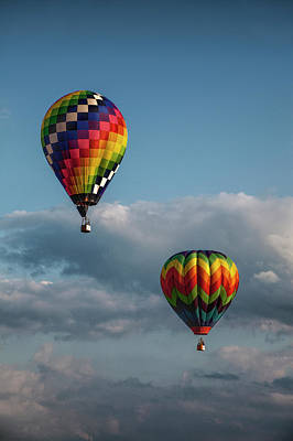 Photograph - Hot Air Balloons At The Battle Creek Michigan Balloon Festival by Randall Nyhof
