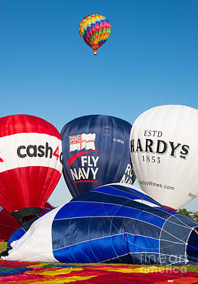 Photograph - Hot Air Balloons. Bristol Balloon Fiesta by Colin Rayner