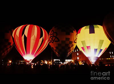 Photograph - Hot Air Balloons Burn by Justin Moore