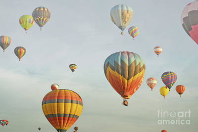 Photograph - Hot Air Balloons Dreamy Sky by Andrea Hazel Ihlefeld