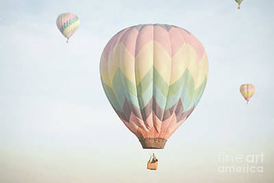 Photograph - Hot Air Balloons Dreamy Sky Landscape by Andrea Hazel Ihlefeld