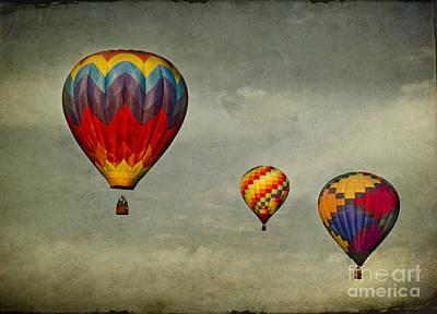 Scenery Digital Art - Hot Air Balloons by Elena Nosyreva