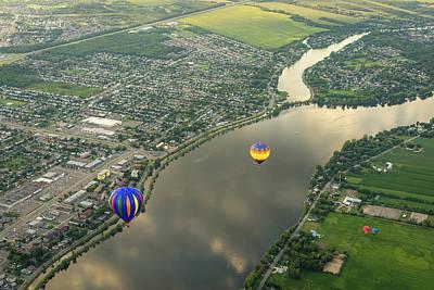 Photograph - Hot Air Balloons - by Georgia Mizuleva