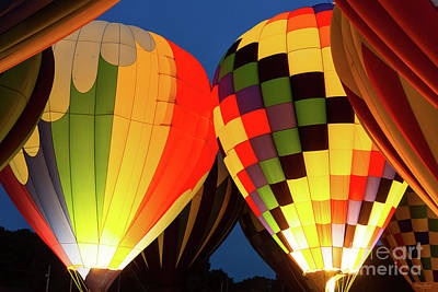Photograph - Hot Air Balloons Glow by Jennifer White