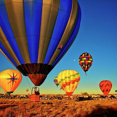 Photograph - Hot Air Balloons Hit A Landing Zone by Flying Z Photography by Zayne Diamond